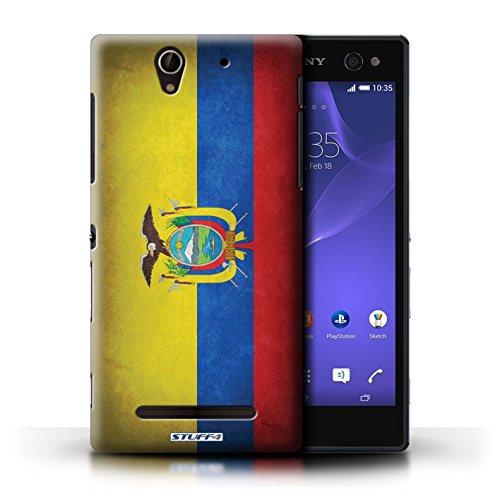 Kobalt® Imprimé Etui / Coque pour Sony Xperia C3 / Portugal/portugais conception / Série Drapeau Equateur/équatorien