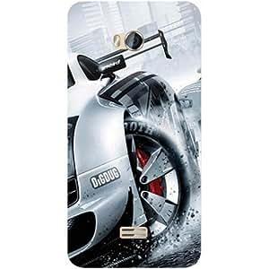 Casotec Drift Sport Print Design Hard Back Case Cover for Micromax Bolt Q336