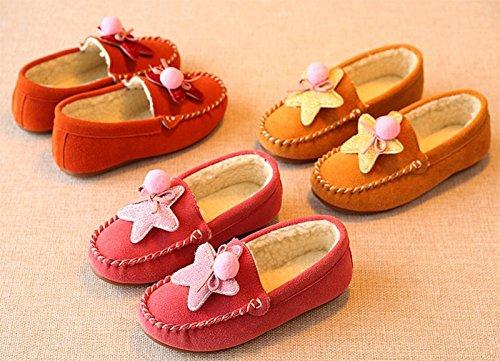 Ohmais Enfants Filles Chaussure cérémonie Ballerines à bride Fête Demoiselle d'honneur Mariage Escarpin à petit talon Jaune