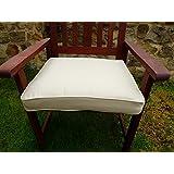 Uk-Gardens–Beige profundo Grande Cuadrado Muebles de jardín silla cojín almohadilla de asiento para jardín Sillón
