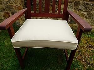 UK-Gardens - Cuscino per seduta poltrona da giardino, grande e spesso, colore: beige crema