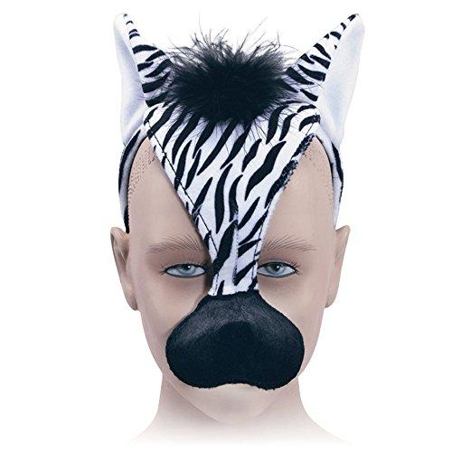 Bristol Novelty EM181 Haarband, Zebra-Maske und Sound, Unisex, Mehrfarbig, ()
