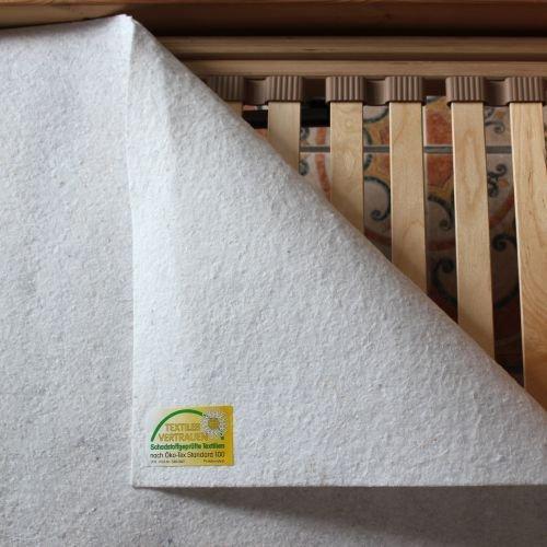 Matratzenunterlage Matratzenschoner 'Filzschoner' Filz Lattenrostschoner Größe 90 x 200 cm