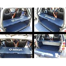 O - Bandeja de cuero sintético para maletero y varillas de soporte (para Smart ForTwo), color azul