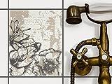 creatisto Fliesen zum Aufkleben | Klebe-Fliesenaufkleber Küchenfliesen Bad-Folie Wanddeko | 20x25 cm Muster Ornament Styleful Vintage 1-1 Stück