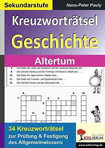 Kreuzworträtsel Geschichte Altertum (Kreuzworträtsel Geschichte)