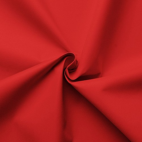 Carry - Lona de tela impermeable - 100% poliéster - 21 colores - Por metro (rojo)
