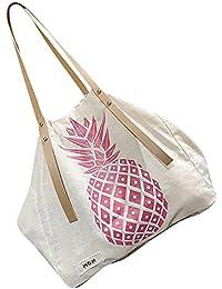 Igemy Handtasche Schultertaschen Tote für Frauen Neu Mode Leinwand Ananas gedruckt