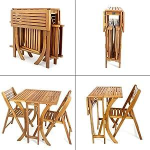 balkonset tisch mit 2 st hlen mehrfach klappbar. Black Bedroom Furniture Sets. Home Design Ideas