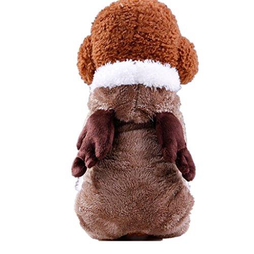 Upxiang Coole Niedlichen Hundekleidung, Hund Winter Dicken Kostüm Kleidung, Haustier Cosplay, Hundekleidung Hundemantel Hundejacke Hundepullover, für kleine Hund Und große Hund (M, Weihnachtskleid-Koffee) (Superman Dog Kostüm Große)