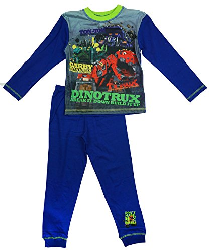 Preisvergleich Produktbild Jungen Dinotrux Ton Ton CARBY TY Rux Make Me Roar Pyjama Größen von 4 to 10 Years - Blau, 5-6 Years