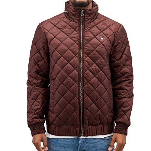 G-STAR RAW Meefic Quilted Overshirt L, Blouse Homme Rouge