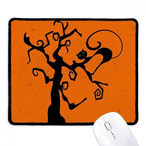 (DIYthinker Kratzbaum Halloween Hallowmas orange Griffige Mousepad Spiel Büro Schwarz Titched Kanten Geschenk)