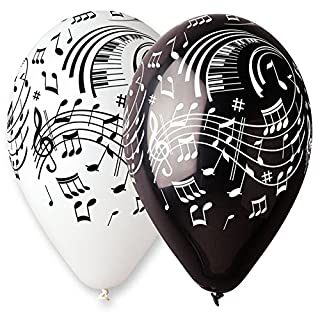 Aptafêtes–ba19921–Sachet de 100Luftballons Musik Noten–Durchmesser 30cm/cirérence 105cm