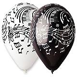 Smiffy\'s - Ballons notes de musique noirs et blancs paquet de 100