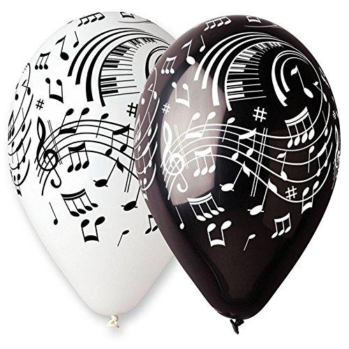 Unbekannt Aptafêtes–ba19921–Sachet de 100Luftballons Musik Noten–Durchmesser 30cm/cirérence 105cm