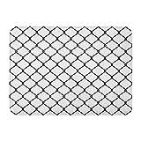 Kanaite Tapis de Bain MMA clôture Blanche en Acier Treillis métallique Cage de décoration de Salle de Bains Tapis