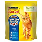 PURINA GO-CAT Crunchy and Tender Salmon, Tuna and Added Vegetables Dry Adult Cat Food, 800 g