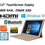 "2017 Newest Edition Samsung Galaxy TabPro S 12"" Full HD+(2160x1440) Flagship High Performance TouchScreen Convertible 2-in-1 Laptop, Intel Core M3, 8GB RAM, 256GB SSD, Win10, Gold"