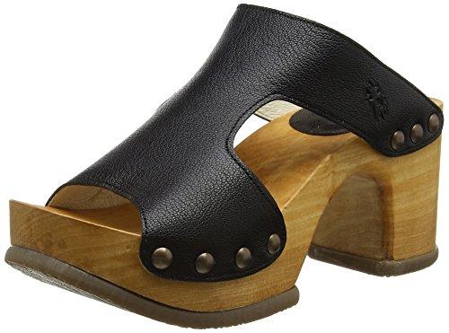 FLY London Damen Rhia995fly Open Toe Sandalen, Schwarz (Black 000), 41 EU (Sandale Open-toe Boot)