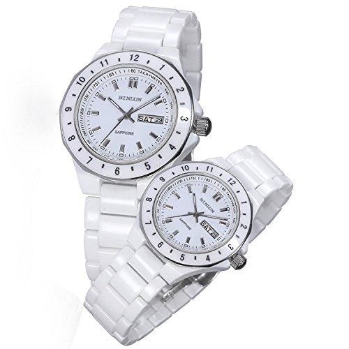 BINLUN - Herren Damen -Armbanduhr- BL0006C-CWW
