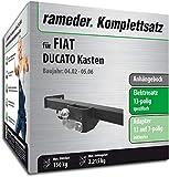 Rameder Komplettsatz, Anhängebock mit 2-Loch-Flanschkugel + 13pol Elektrik für FIAT DUCATO Kasten (113382-04894-1)