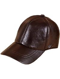 MYMYU Berretto in pelle unisex Outdoor Outdoor Sport Cappello in pelle  adatto Uomini e donne 951ce2499657