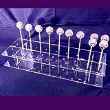 Super Cool Creations 45x 16cm 6,5cm hoch Acryl Rechteck Cake Pop-Ständer mit 36löcher 5cm Apart, transparent