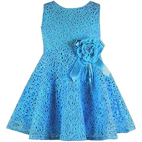 Amlaiworld Vestito per bambini,Pieno pizzo floreale un pezzo vestire ragazze