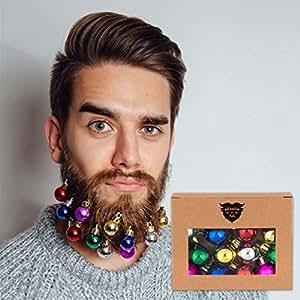 Beards N Bobs Beard Baubles Bart Kugeln Bälle Weihnachten x 12