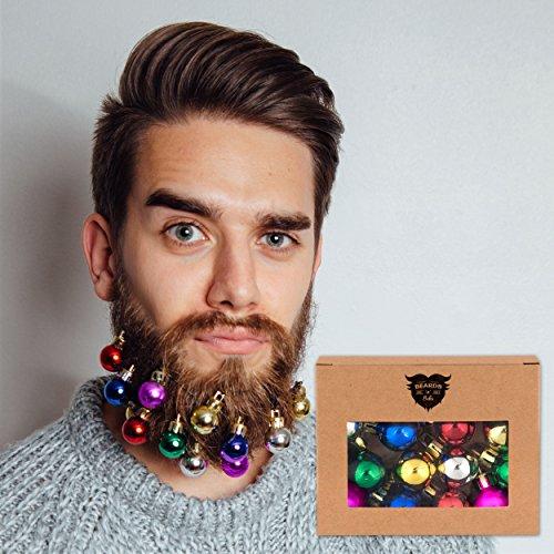 Beards n Bobs Beard Baubles Bart Kugeln Bälle Weihnachten x 12 (Kostüme Bärte)