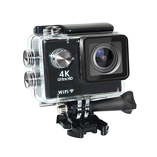 Action Camera 4K particularly HD Wifi Waterproof Cam utilizing UnderWater 30M/98ft 2.0 inches contact tv screen and 170 Degree diverse Angle Lens(Black) UK