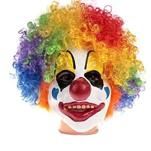 DLDL Lustige Maske Clown Zubehör Perücke Latex Clown ()