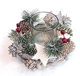 Toller kleiner Kranz mit Teelichthalter Natur und Kunst Kranz Ø 15 cm Tischdeko