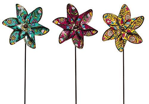 New creative Springtime girandola da giardino con metallo, set di 3