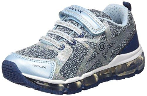 Geox Mädchen J Android Girl B Sneaker, Blau (Avio/Crystal), 35 EU