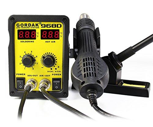 NRG Clever® KSS968D Lötstation mit Eisen Entlöten, Blasen von heißer Luft. Doppeldigitalanzeige Einstellbare Temperatur