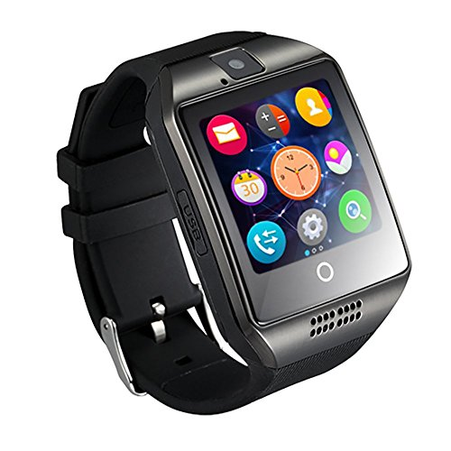 GZDL-Q18-Bluetooth-Smart-Watch-Touchscreen-with-Camera-Unlocked-Watch-Cell-Phone-with-Sim-Card-Slot-Smart-Wrist-Watch-Smartwatch-Phone-for-Android-Samsung-IOS-iPhone-7-Plus-6S-Black