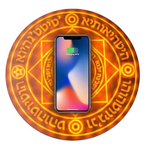 Mengen88 Magisches Array drahtloses Charger,10w Qi Fast Ultra Slim Wireless Charging Pad für iPhone 8/iPhone 8 Plus/iPhone X/XRk Max/Samsung Galaxy S9/S8/S7 Led-array
