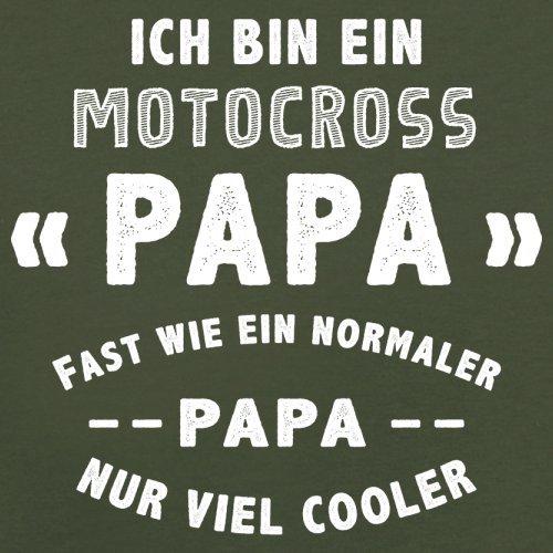 Ich bin ein Motocross Papa - Herren T-Shirt - 13 Farben Olivgrün