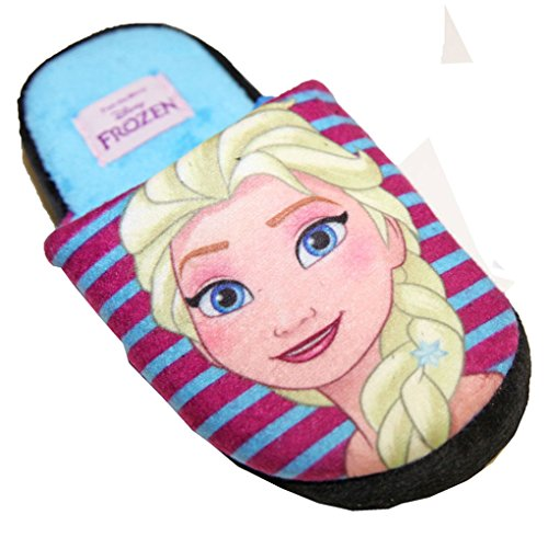 Hausschuhe Mädchen Schneekönigin Frozen Disney Anna und Elsa Blau