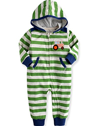 Vaenait Baby 80-92 Maedchen Infant Hooded Fruehling Jumpsuit Rompers Baby Best Driver Green 18-24M