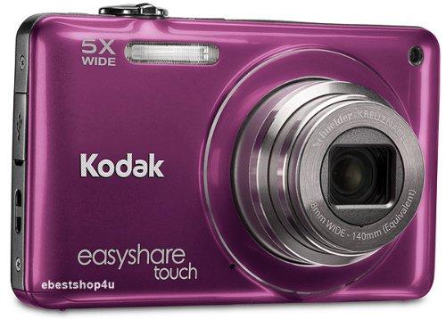Kodak Easyshare Touch M5370 16-Megapixel-Digitalkamera mit 5fach optischem Zoom, HD-Videoaufnahme und 3,0-Zoll-kapazitivem Touchscreen-LCD (dunkelrosa)