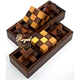 Wooden 3 In One Puzzle Toys Game For Kids Wooden Toys For Family And Travel Royal Craft Enterprises (Star Puzzle)