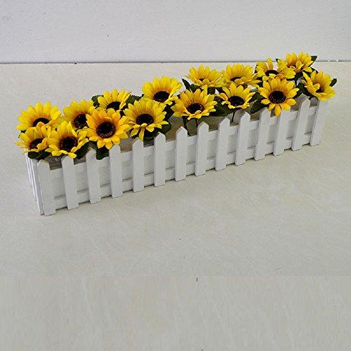 Flores artificiales girasol Valla macetas 50*11cm Home decoraciones para Bodas Cumpleaños Bouquet...