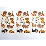 Cat & Kitten Stickers - Kids / Childrens Labels for party bags , scrap books , card making or notebook decoration