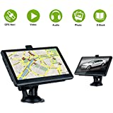 Excelvan 7 Pouces LCD Ecran GPS Auto Multifonction Tracker GPS Voiture FM MP3 SAT NAV Cartes Europe intégrée 8GO Mémoire interne Soutenir l'extension de Micro SD jusqu'à 32GO