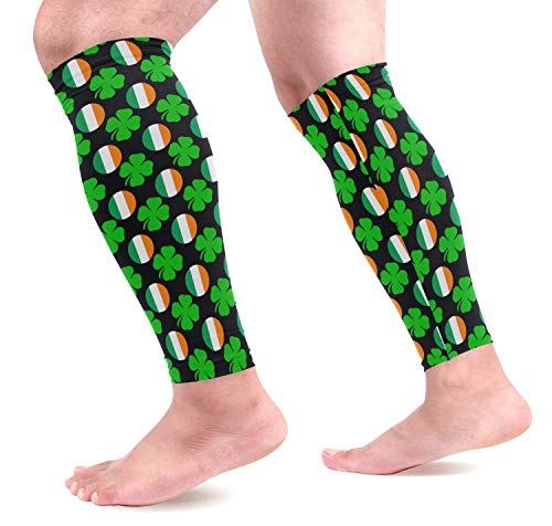dfegyfr Ireland Lucky Shamrock Sports Calf Compression Sleeves Leg Compression Calf Sleeve for Runners Men Women (1 Pair)