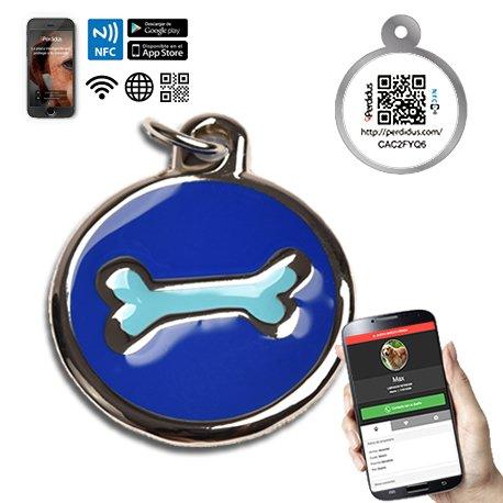 chapa-placa-identificativa-para-perros-hueso-2-colores-con-tecnologia-nfc-contactless-y-qr-gestionab