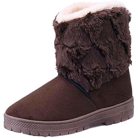 Tefamore Stivali Da Neve Donne, Allineato Pelliccia Inverno Caloroso Caviglia Scarpe - Nel Corso Strass